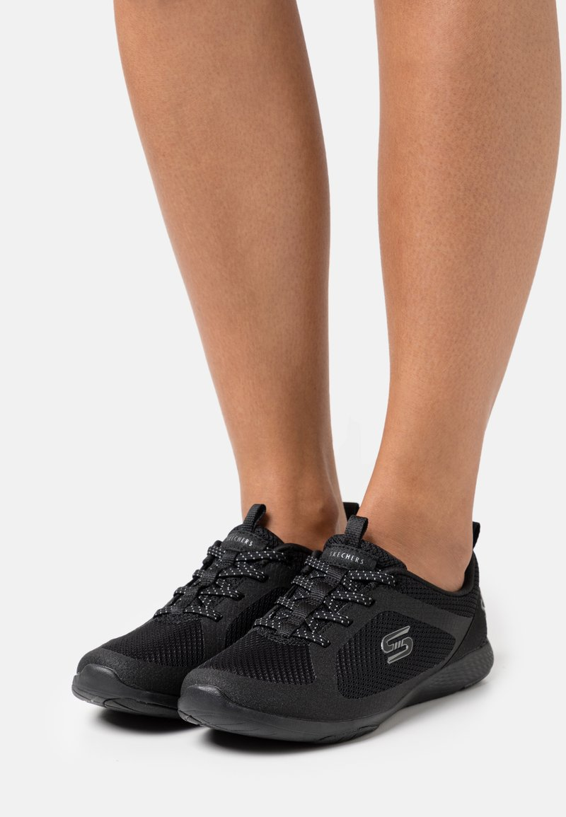 Skechers - LOLOW - Trainers - black/hot melt