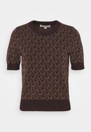 LOGO  - Print T-shirt - chocolate