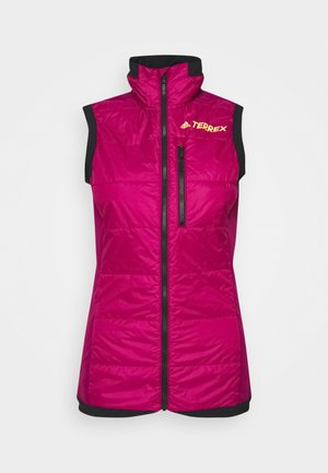 TECHNICAL SPORTS SKI TOURING FILLED VEST - Waistcoat - berry