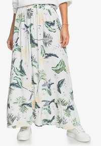 Roxy - Maxi skirt - snow white large praslin - 0
