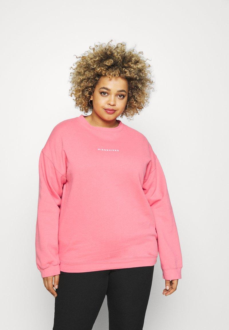 Missguided Plus - WASHED BASIC  - Sweatshirt - rose