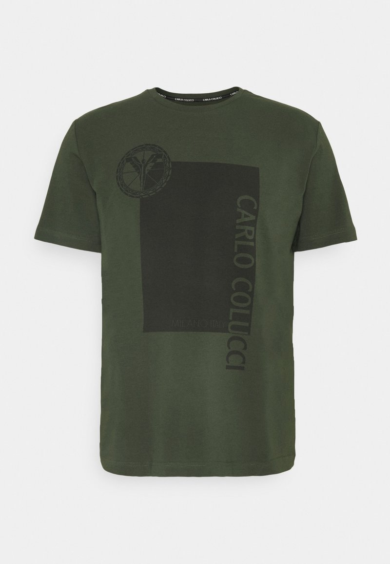 Carlo Colucci - BLOCK - Print T-shirt - oliv