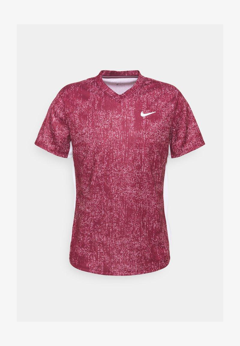 Nike Performance - DRY VICTORY - Camiseta estampada - dark beetroot/white