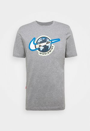 TEE WORLDWIDE - Print T-shirt - dark grey heather