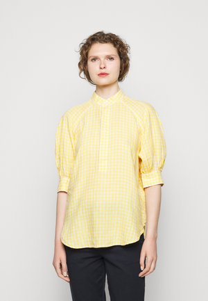 GINGHAM ELB SHIRT - Blůza - yellow/white