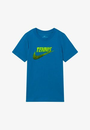TENNIS GRAPHIC - Print T-shirt - neo turquoise/white/black