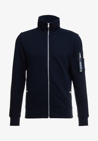 TOM TAILOR - STRUCTURED JACKET WITH DETAILS - Zip-up hoodie - sky captain blue - 4