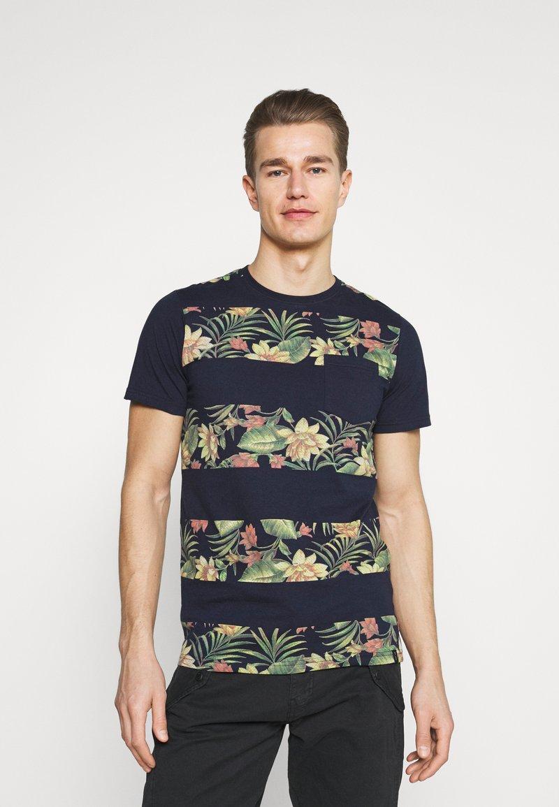 INDICODE JEANS - EPSLEY - Print T-shirt - navy