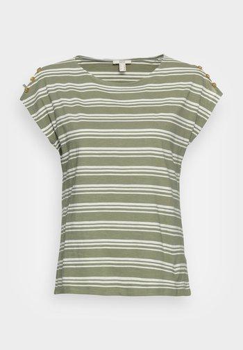 BUTTON - T-shirt med print - light khaki