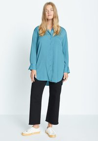 Violeta by Mango - LAURITA - Button-down blouse - petrolejová modrá - 1