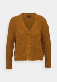 J.CREW - POINT SUR TEXTURED VNECK CARDIGAN - Cardigan - golden brandy - 5