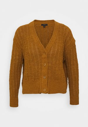 POINT SUR TEXTURED VNECK CARDIGAN - Gilet - golden brandy