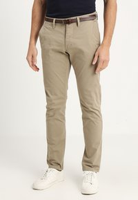 TOM TAILOR - ESSENTIAL SOLID - Trousers - chinchilla brown - 0