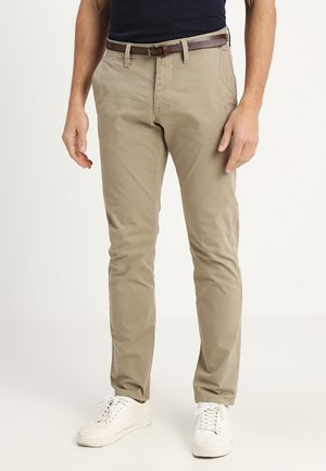 ESSENTIAL SOLID - Trousers - chinchilla brown