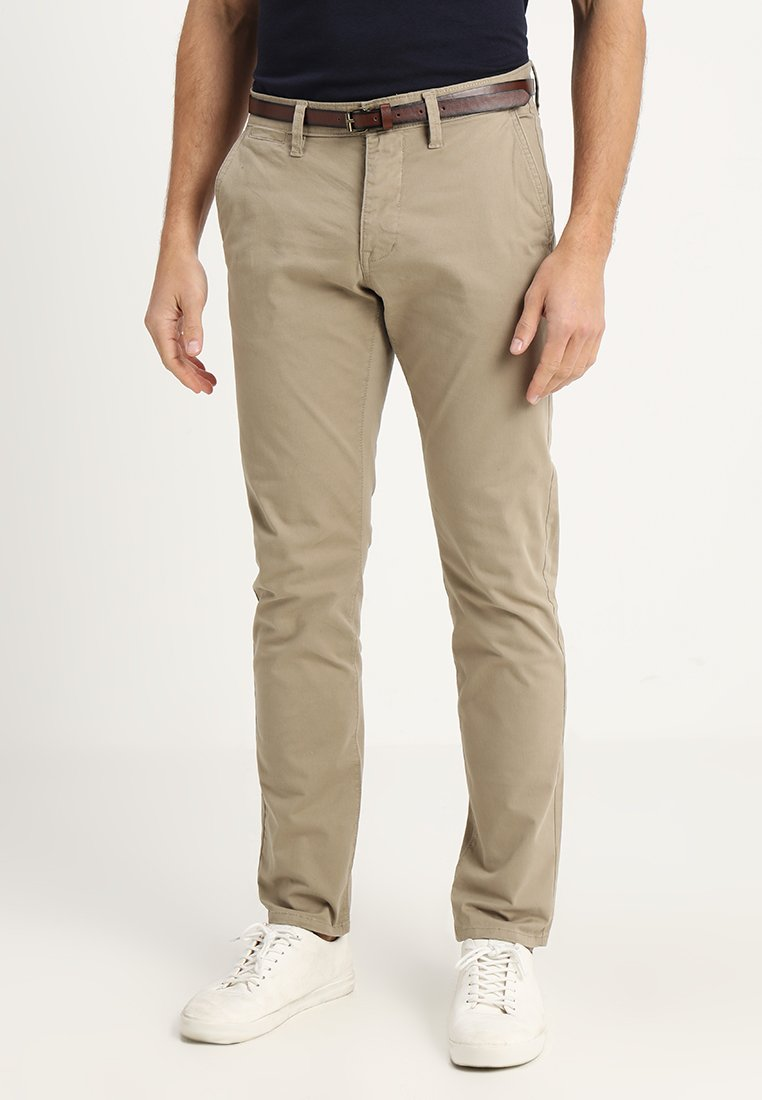 TOM TAILOR - ESSENTIAL SOLID - Trousers - chinchilla brown