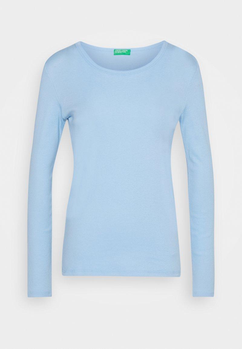 Benetton - Bluzka z długim rękawem - light blue
