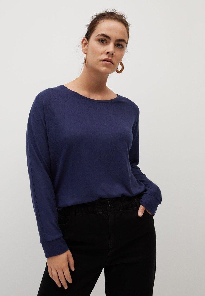 Violeta by Mango - KYOTO - Long sleeved top - bleu marine foncé
