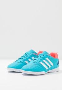 adidas Performance - SUPER SALA UNISEX - Indoor football boots - signal cyan/signal pink/royal blue - 3