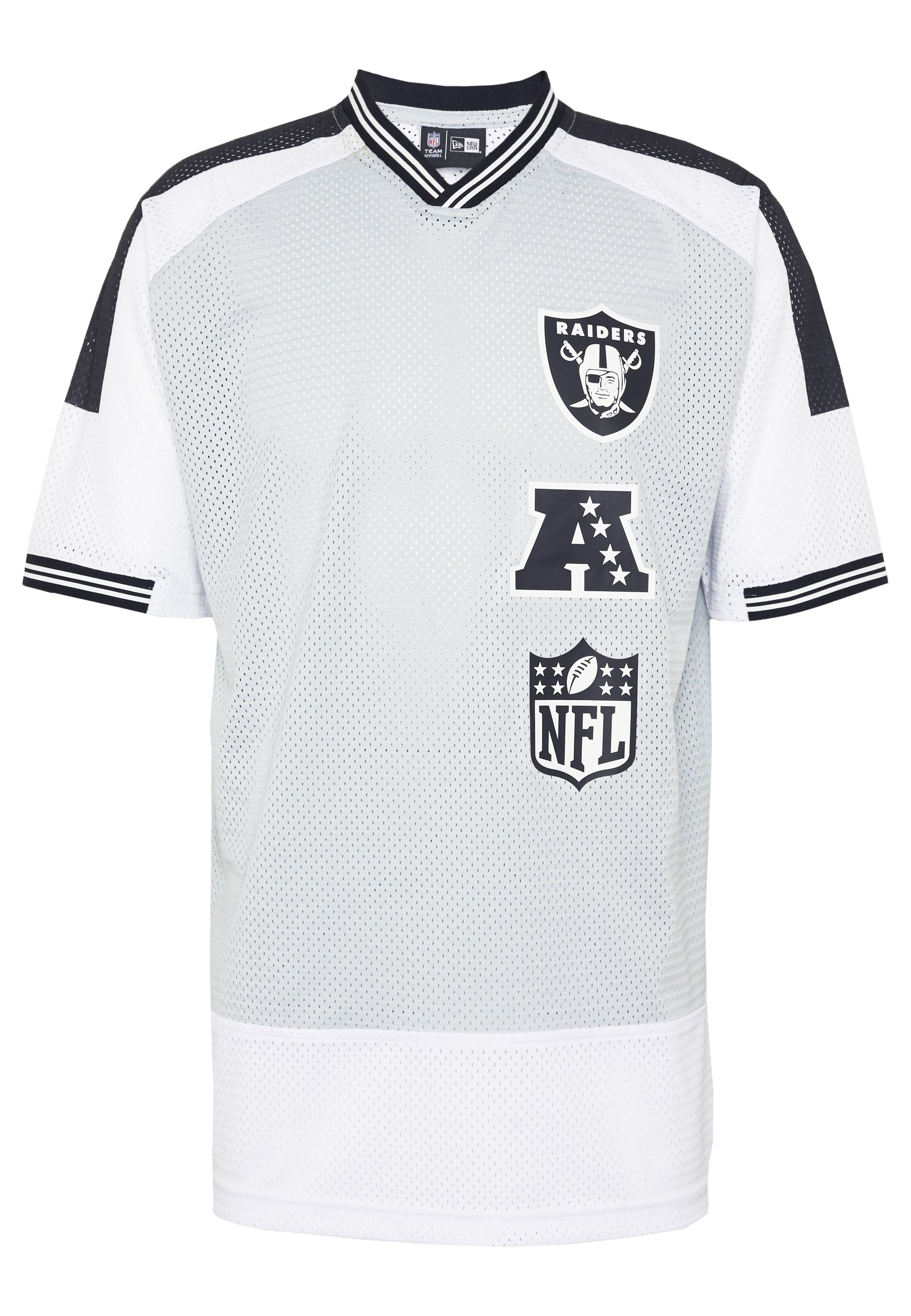 New Era NFL STACKED LOGO OVERSIZED TEE OAKLAND RAIDERS - Article de supporter - grey