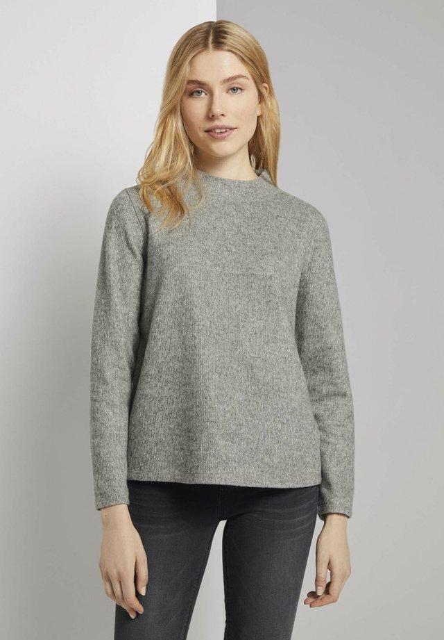 Sweter - silver grey melange