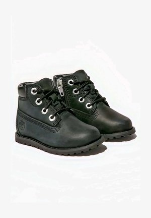 Lace-up ankle boots - black nubuck