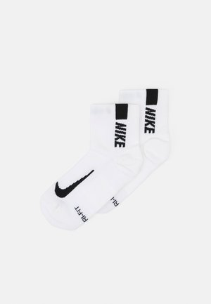 ANKLE 2 PACK UNISEX - Sports socks - white/black