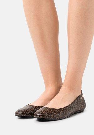 ROUND  - Ballet pumps - brown mono