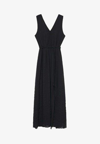 STRUKTURIERTES MIT BAND - Day dress - schwarz