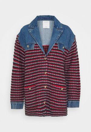 RHODE - Denim jacket - marine/rouge