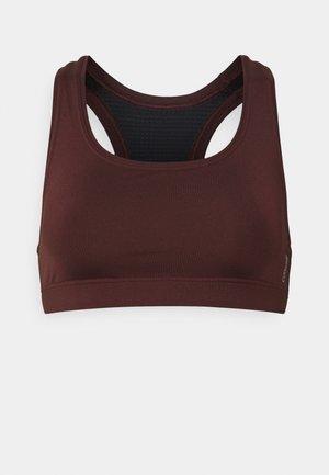 ICONIC SPORTS BRA - Medium support sports bra - mahogany red
