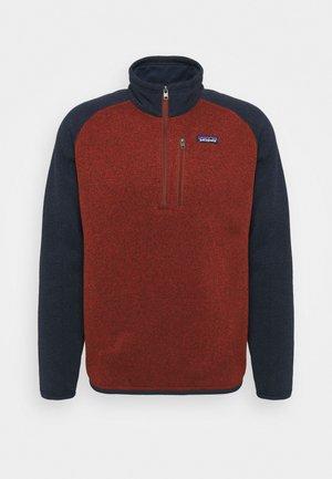 BETTER SWEATER 1/4 ZIP - Fleece jumper - barn red/new navy