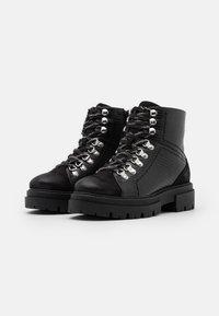 Glamorous Wide Fit - Kotníkové boty na platformě - black - 2
