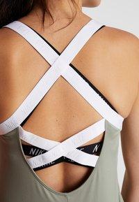 Nike Performance - DRY TANK ELASTIKA - Sports shirt - jade stone/white - 3
