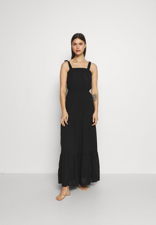 TIE TIERED DRESS - Strandaccessoire - black