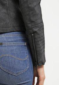 ONLY - ONLAVA BIKER  - Faux leather jacket - black - 6