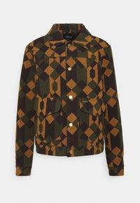 TRUCKER JACKET - Summer jacket - orange/dark green/brown