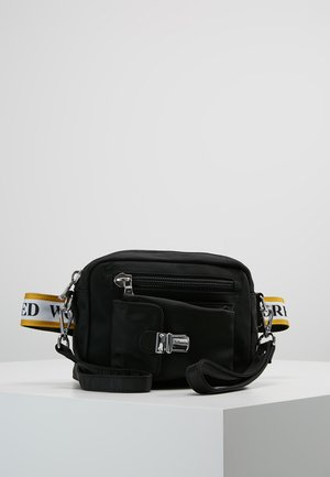 ATHEN YELLOW - Across body bag - black
