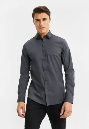 SLIM FIT STRETCH - Camisa - grey