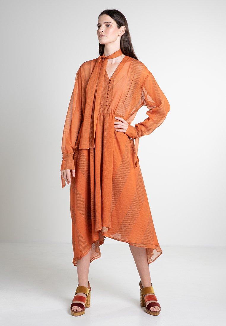 Mykke Hofmann - CHIF - Maxi dress - orange