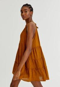 PULL&BEAR - Day dress - mottled beige - 4