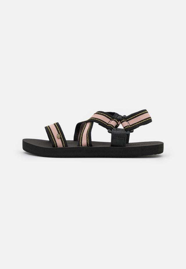 PISMO - Sandals - black/tan