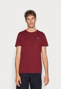Hollister Co. - CREW 3 PACK - T-shirts basic - navy/burgundy/grey - 2