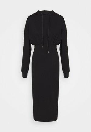 CASSIE HOODED LOUNGE DRESS - Sukienka letnia - black