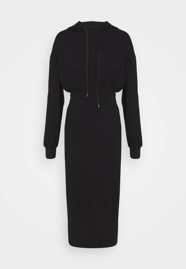 CASSIE HOODED LOUNGE DRESS - Day dress - black