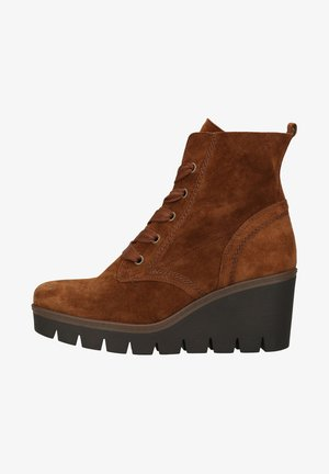 Lace-up ankle boots - whisky (cognac)