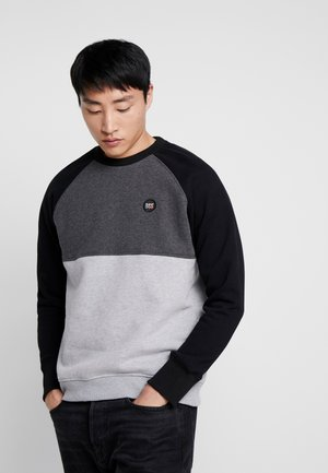 COLLECTIVE COLOUR BLOCK CREW - Sweatshirt - graphite dark marl