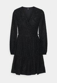 PIECES Tall - PCDWYN WRAP DRESS - Day dress - black - 0