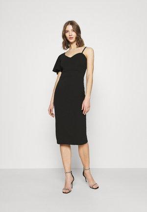 SLEEVE MIDI DRESS - Jersey dress - black