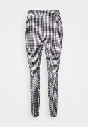CHECK PONTE SLIM TROUSER - Trousers - black