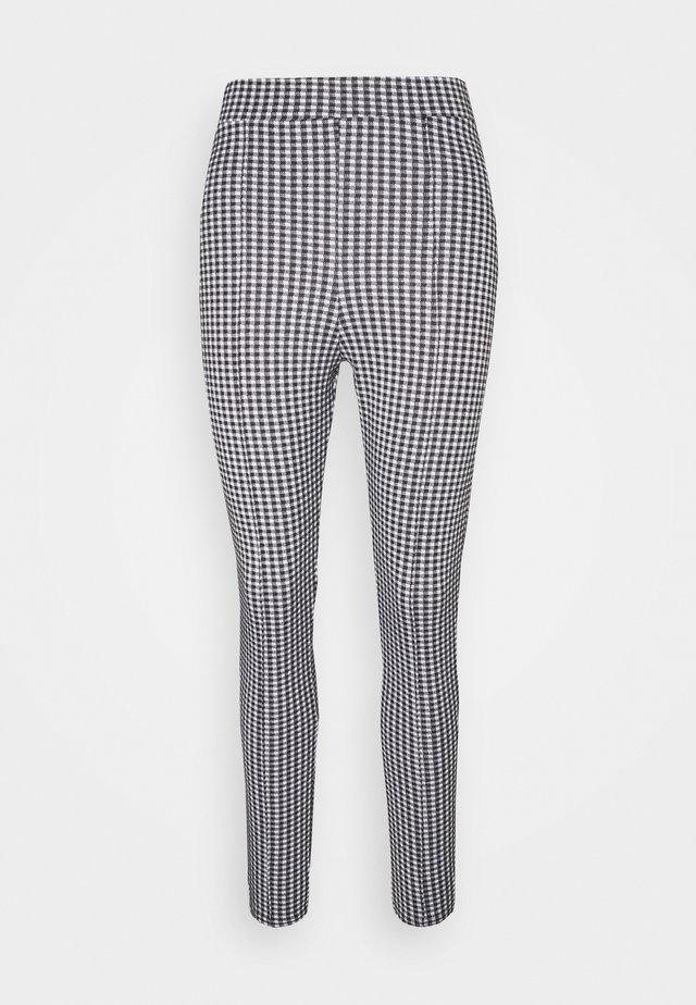 CHECK PONTE SLIM TROUSER - Pantalon classique - black